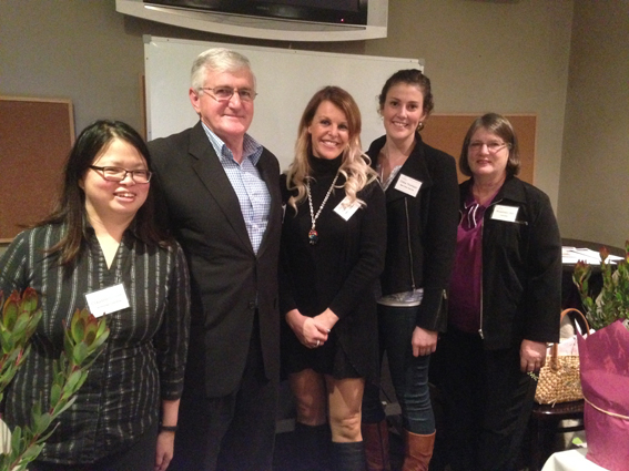 (L-R) Forum presenters Claudine Chionh, Bruce Small, Karen Moad & Chloe Thomson with EWHA Events secretary Rosemary Ulph